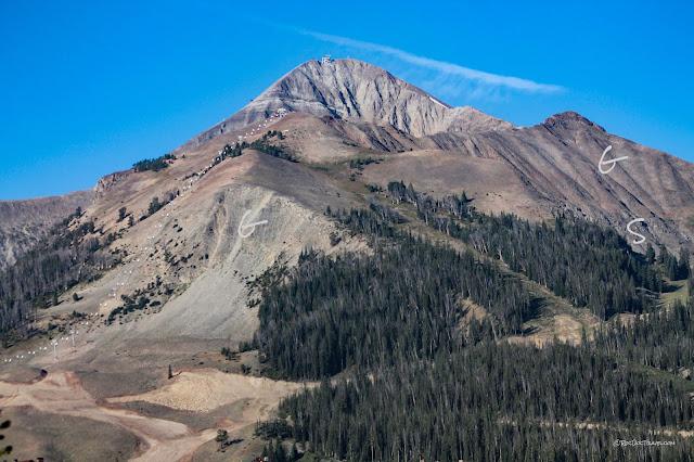 Big Sky Montana geology Lone Mountain travel copyright RocDocTravel.com