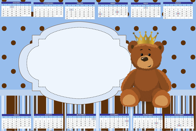Amazing Ursinho Principe Kit Completo Com Molduras Para Convites