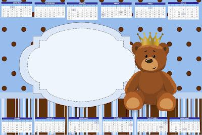 Ursinho Príncipe Kit Completo Com Molduras Para Convites Rótulos