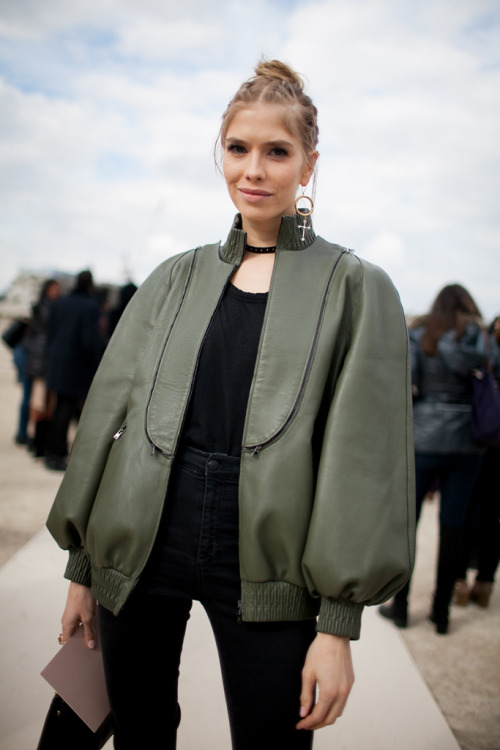 Elena Perminova's Fashion Week Autumn/Winter 2016 Street Style