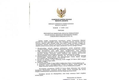 surat seruan Pemerintah Provinsi DKI Jakarta