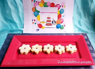 Biscotti farciti di pasta frolla - Biscotti per compleanno bambini