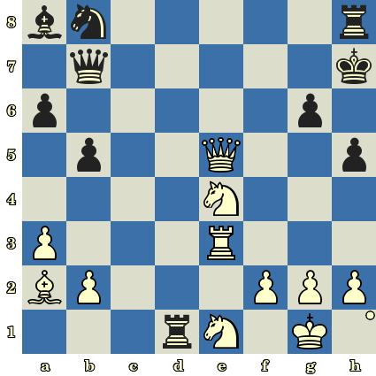 Les Blancs jouent et matent en 5 coups. Iulija Osmak vs Cagil Arda, Hersonissos (Crète), 2017