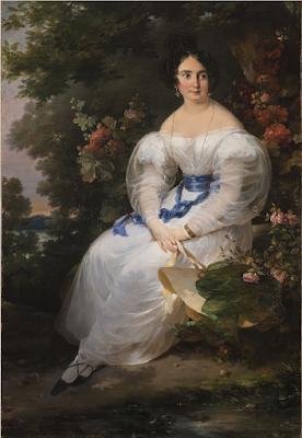 Jeune Femme Assise à l'Ombre d'un Arbre (1830), Antoine Cécile Hortense Haudebourt-Lescot