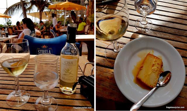 Vinho Chã de Fogo de Cabo Verde e sobremesa típica cabo-verdiana