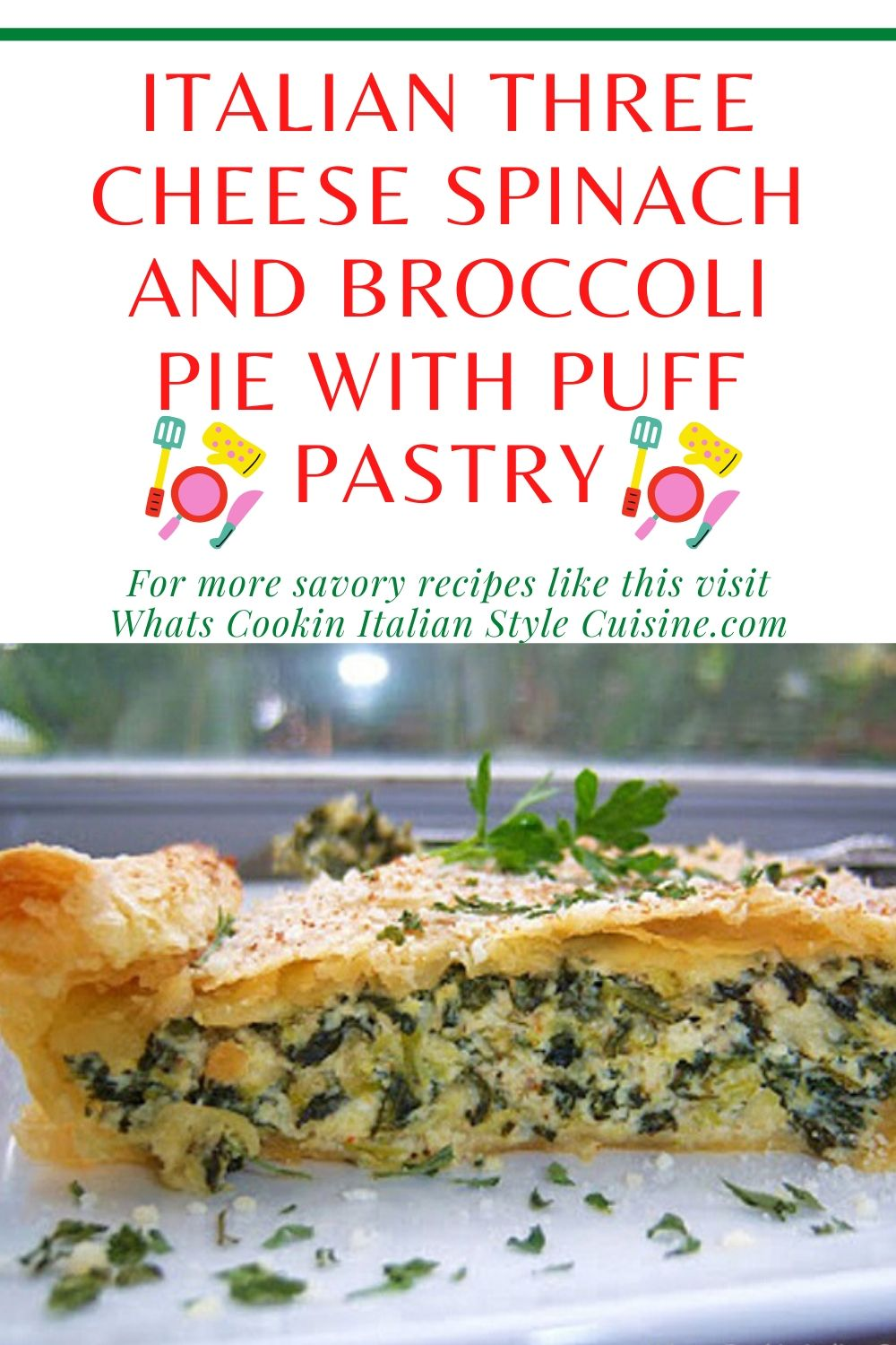 this is a pin for later on how to make spinach and broccoli pie with puff pastry