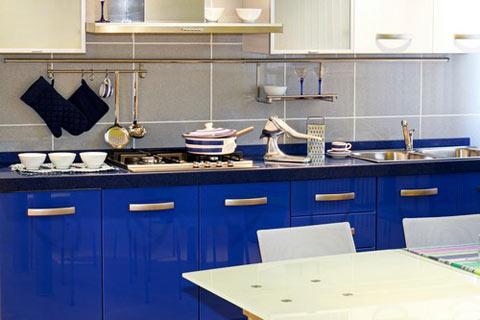 Kabinet Dapur Warna Biru Desainrumahid