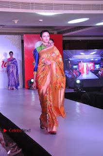 South Indian Celebrities Pos at Love For Handloom Collection Fashion Show  0013.jpg