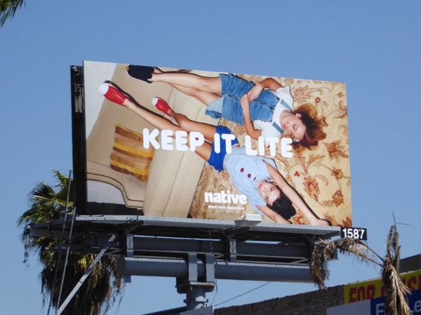 Keep it lite Native Shoes Spring 2017 billboard