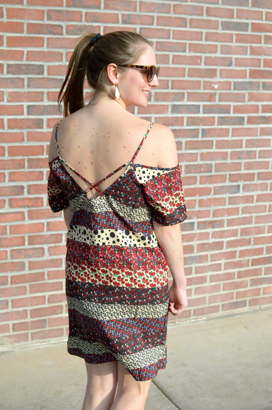 spring trends 2016: off the shoulder dress with a crisscross back