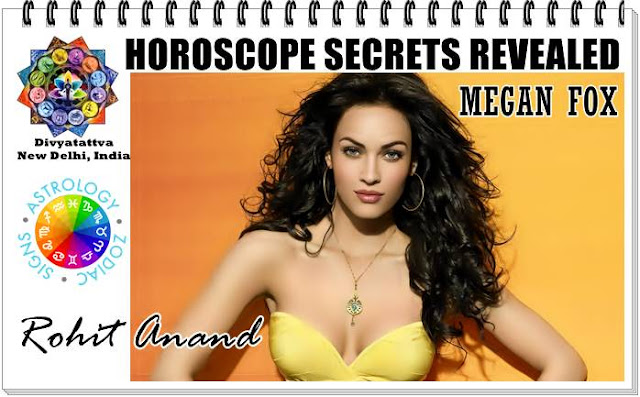 Megan Fox horoscope, Megan Fox Birth charts,Megan Fox Horosopes astrology, Megan Fox hollywood celebrity natal charts