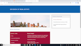 The Division of Real Estate handles all things related to your Florida Real Estate license
