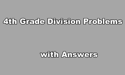 4th Grade Division Problems with Answers PDF.