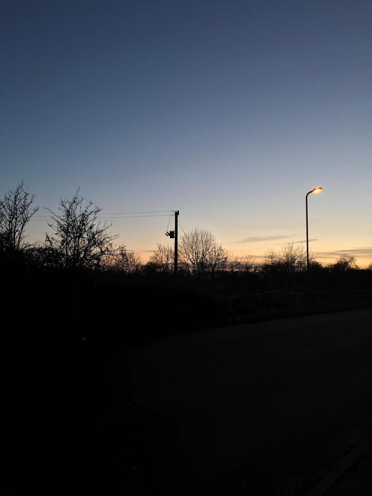 Sunset on Houndsfield Lane