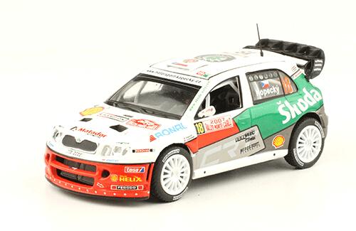 collezione rally monte carlo Skoda Fabia WRC 2007 Jan Kopecký - Flip Schovánek