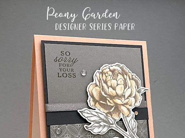 Pretty Cards and Paper International Blog Hop December 2020   Peony Garden