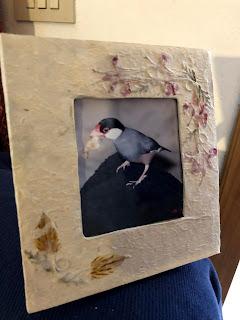 アマルフィで作られた紙の写真立て