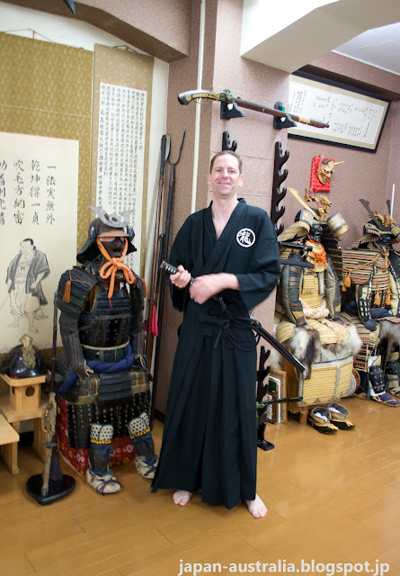 Dressed in Traditional Japanese Martial Arts Clothing called Keikogi