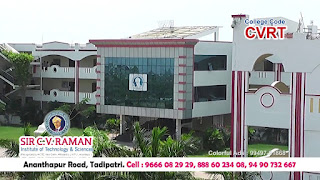 SIR CV Raman Institute of Technology and Sciences Tadipatri Anantapur Fees Format