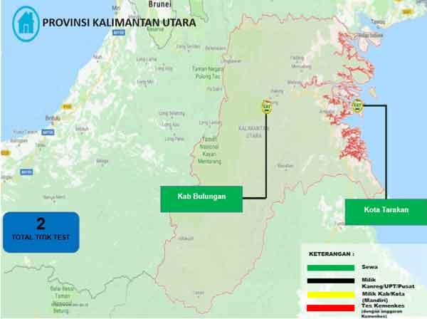 Lokasi Tes Cat BKN Propinsi Kalimantan Utara