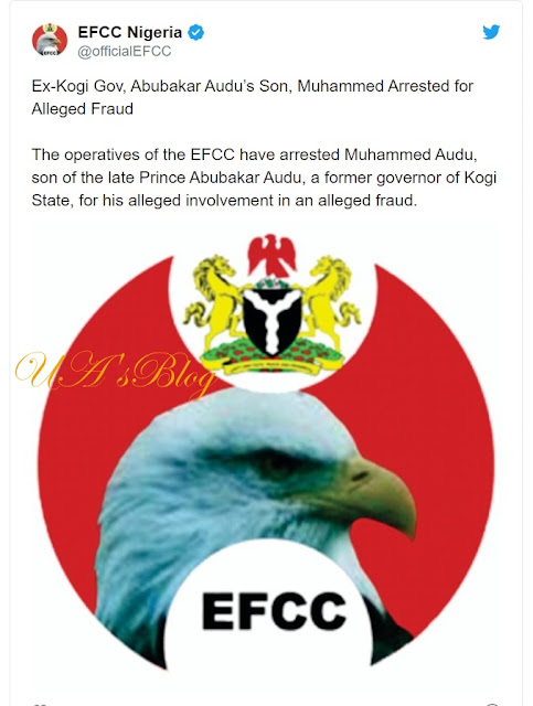 EFCC arrests Abubakar Audu's son 'for fraud'