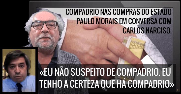 Paulo Morais em conversa com o jornalista Carlos Narciso