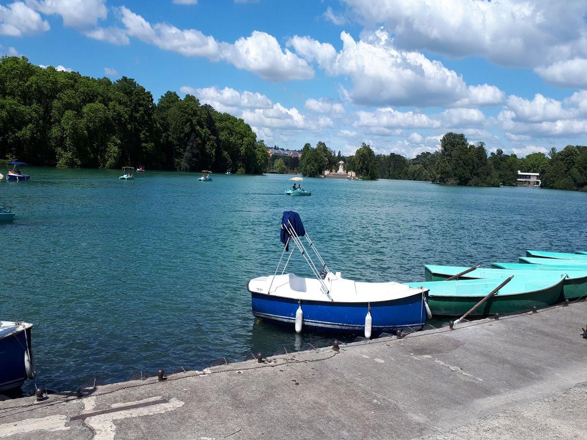 canot bateau lac parc tete d'or lyon