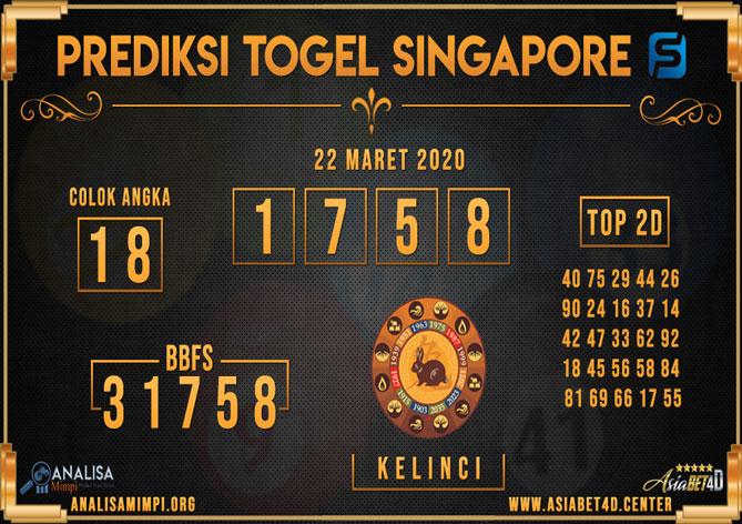 Prediksi Singapore Minggu 22 Maret 2020 - Analisa Mimpi SGP