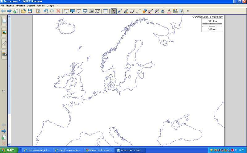 Cartina Europa Muta Senza Confini