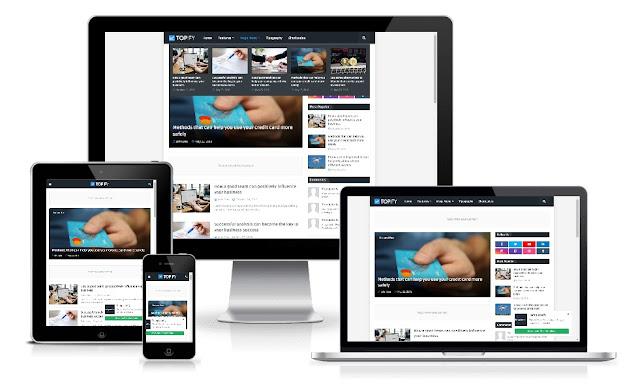 Topify Responsive Blogger Template Premium