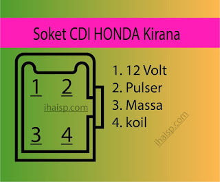 Soket CDI Honda Kirana