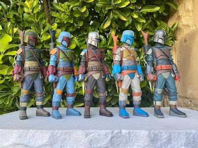 "The Mandalorian ""Lone Wolf"" Star Wars Resin Figure by WheresChappell x Mahalo Cabin"