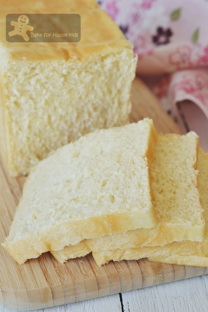 moist soft Japanese milk bread shokupan