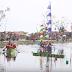 Kesal Tak Diperhatikan Pemerintah, Warga Desa Jeruksari Gelar Lomba Dayung Di Tengah Banjir Rob