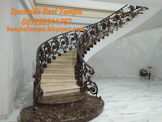 Railing tangga layang besi tempa Purwakarta