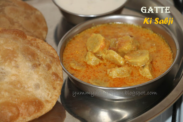 Gatte ki Sabji /Gatta curry recipe