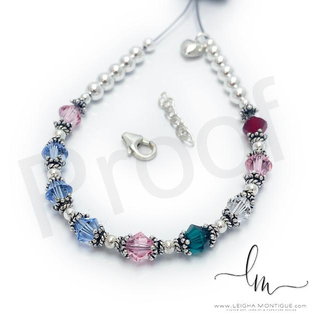 October, December, April, May, July Birthstone Bracelet