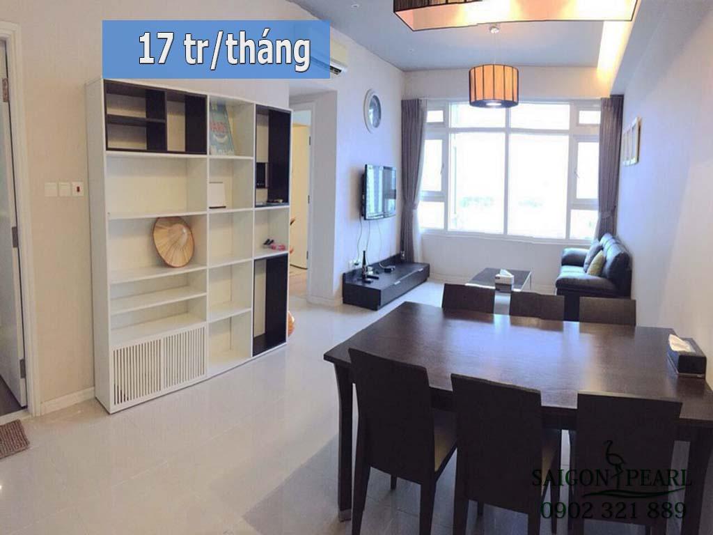 Saigon Pearl 2 phòng ngủ cho thuê giá rẻ full nội thất chỉ 17 tr/tháng - hình 1