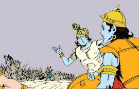 Krishna and Pradyumna against Shiva