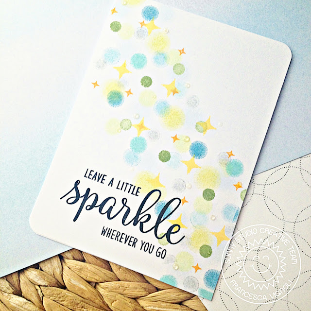 Sunny Studio Stamps: Born To Sparkle One Layer Stamped Background Card by Franci Vignoli