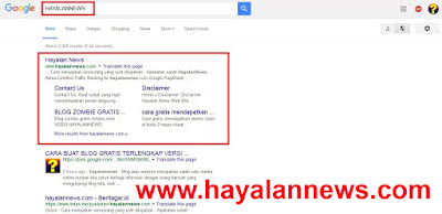 Cara gampang mendapatkan sitelink google versi hayalannews