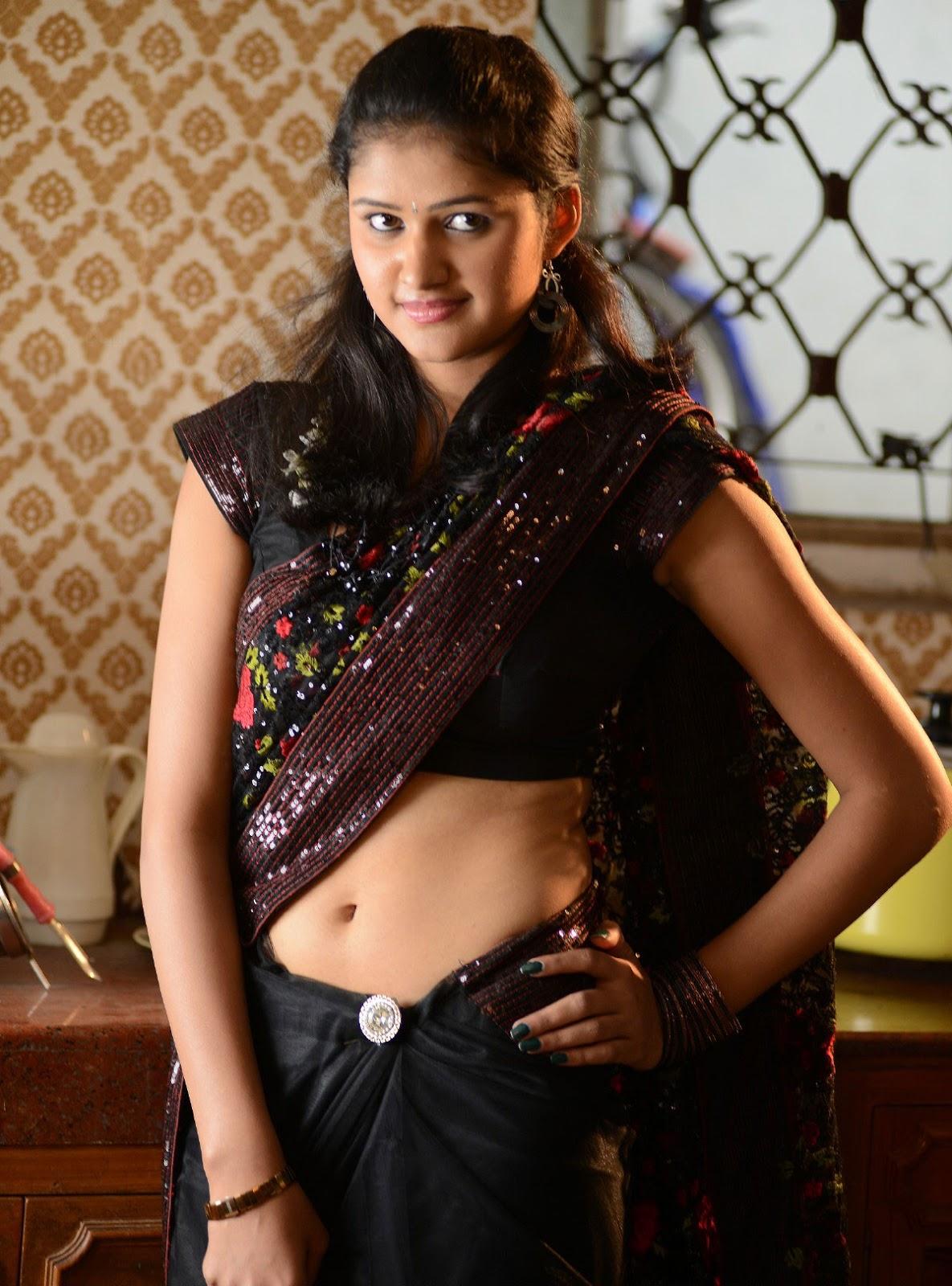 Saree below navel