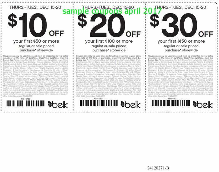 Belk coupons april 2019