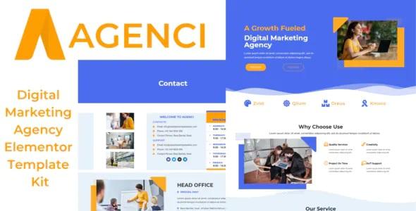 Best Digital Marketing Agency Elementor Template Kit