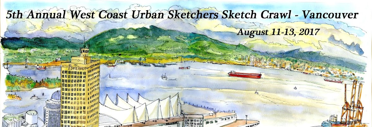 5th Annual West Coast Urban Sketchers Sketch Crawl - Vancouver