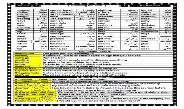 مذكرة مستر هشام ابو بكر فى اللغة الانجليزية الصف الثالث الاعدادى الترم الثانى مذكرة مستر هشام ابو بكر - انجليزي تالتة اعدادى ترم تانى
