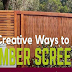 8 Creative Ways to Use Timber Screens in Your Garden #infographic