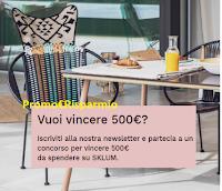 Logo Concorso SKLUM : vinci gratis 500€ da spendere in accessori arredo