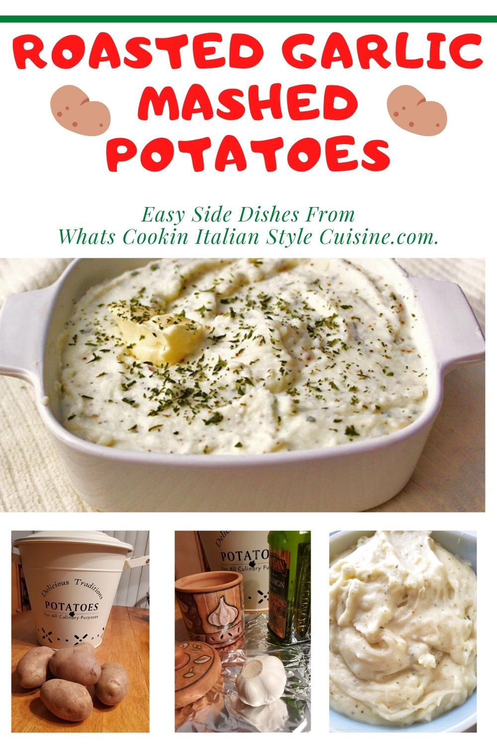 this is a pin for later on how to make roasted garlic mashed potatoes