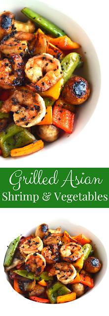 Grilled Asian Shrimp and Vegetables
